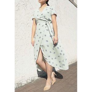 Pastel Green Floral Dress